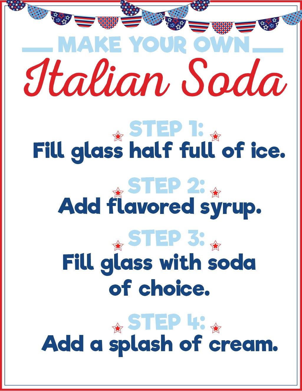 Patriotic Italian Soda Printable