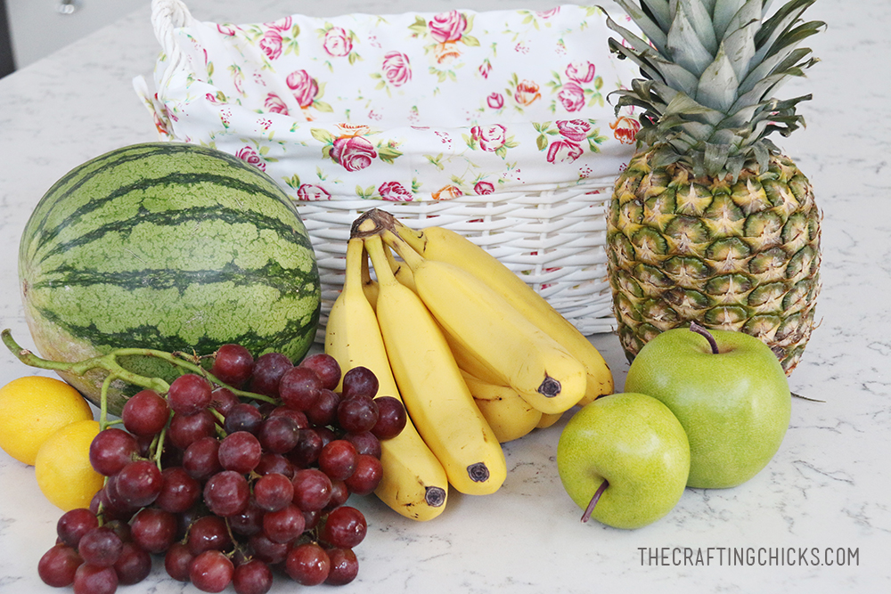 Fruit Basket Gift Idea with Free Printable Tag