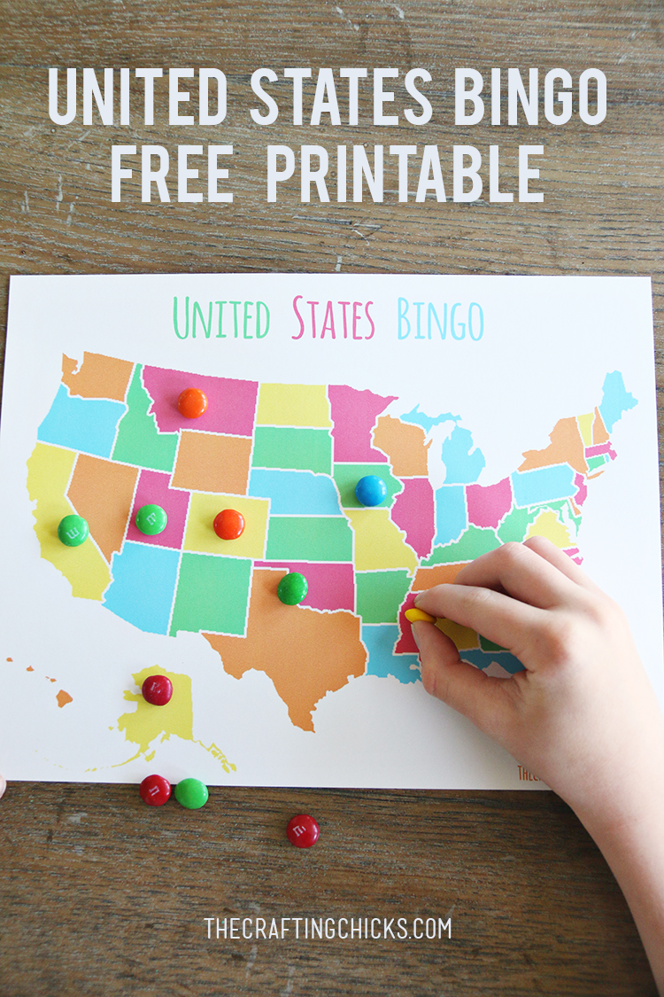 US Map Game {FREE Printable US State Map} | Skip To My Lou