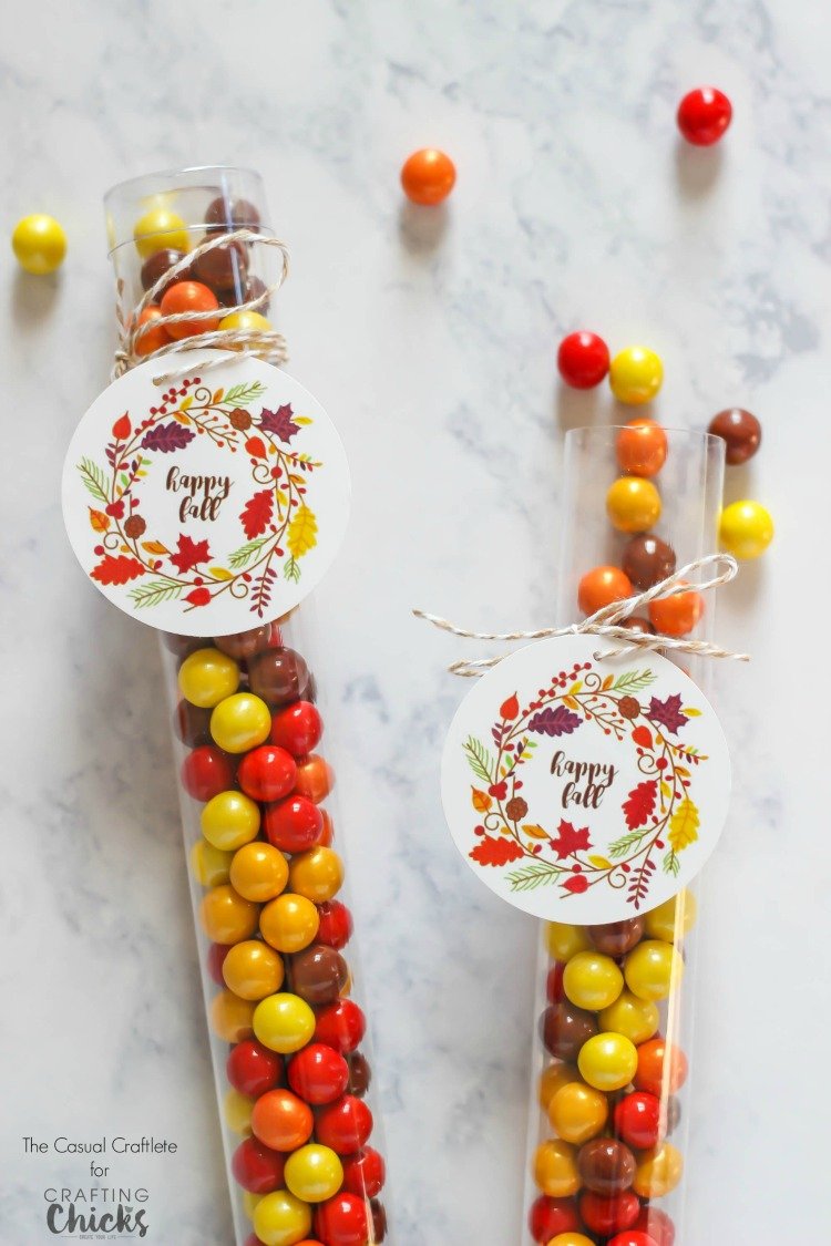 This Free Printable Happy Fall Tag is great for any autumn treat or gift.