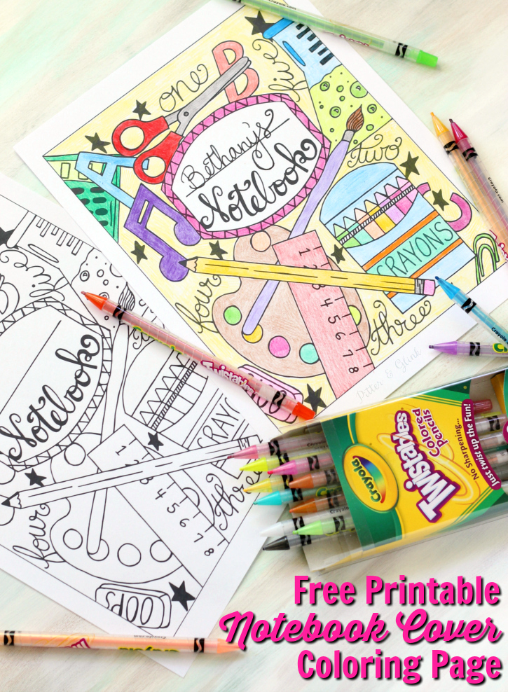 Free Printable Notebook Cover
