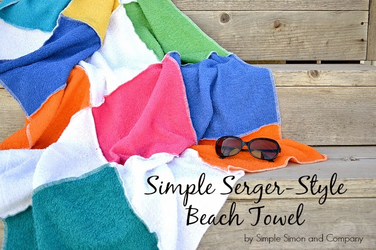 Serger Style Beach Towel