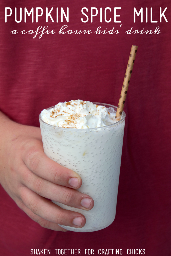 Pumpkin Spice Milk! A coffee house style drink for kids that is perfect for the holiday season!
