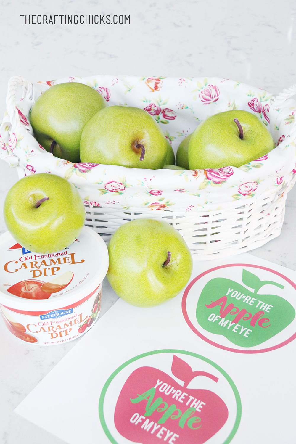 Apple Gift Idea and Free Printable Tag