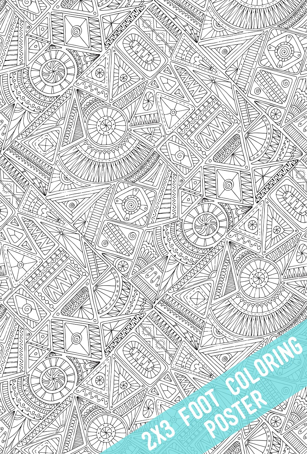 Tribal Coloring Poster