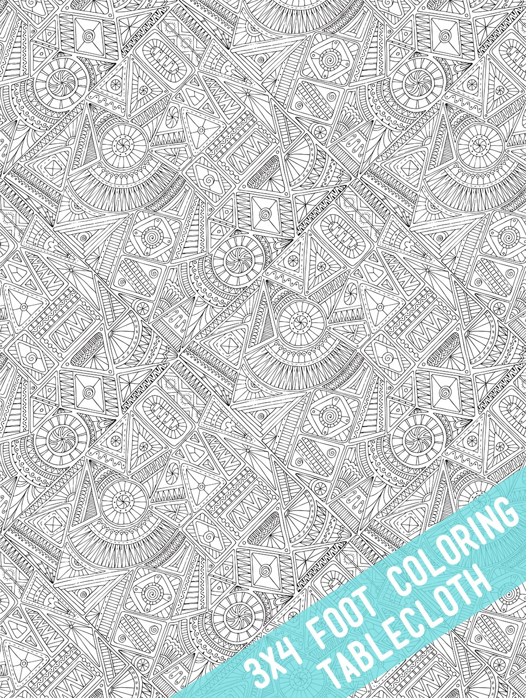 Tribal Coloring Table Cloth