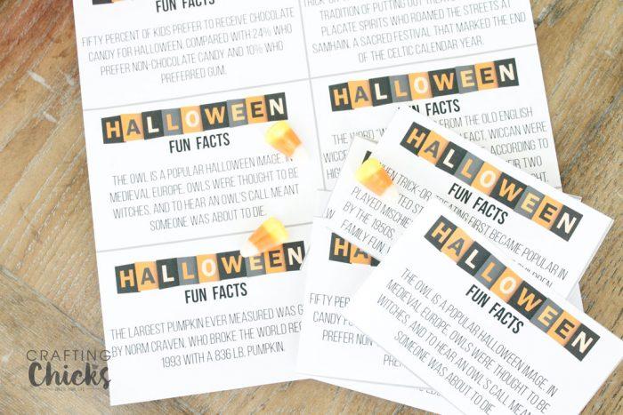 Halloween Fun Facts Printables