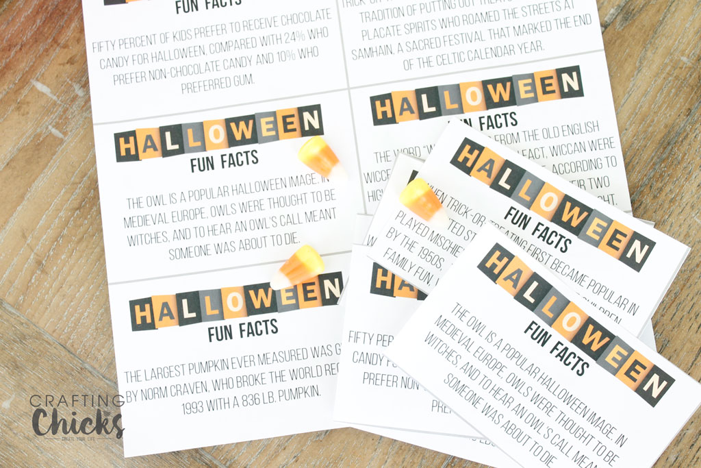 Halloween Fun Facts Lunchbox Printables - The Crafting Chicks