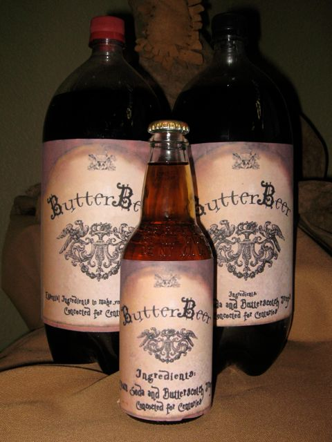 Butterbeer Recipe and Free Printable