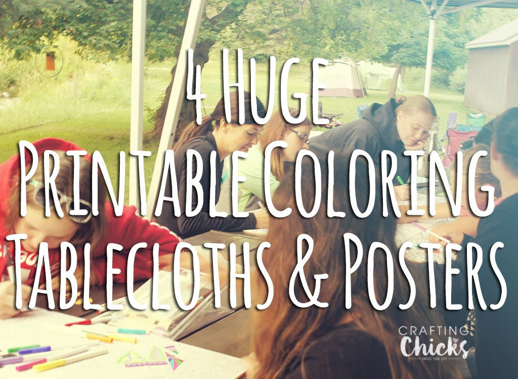 coloring posters and tablecloths