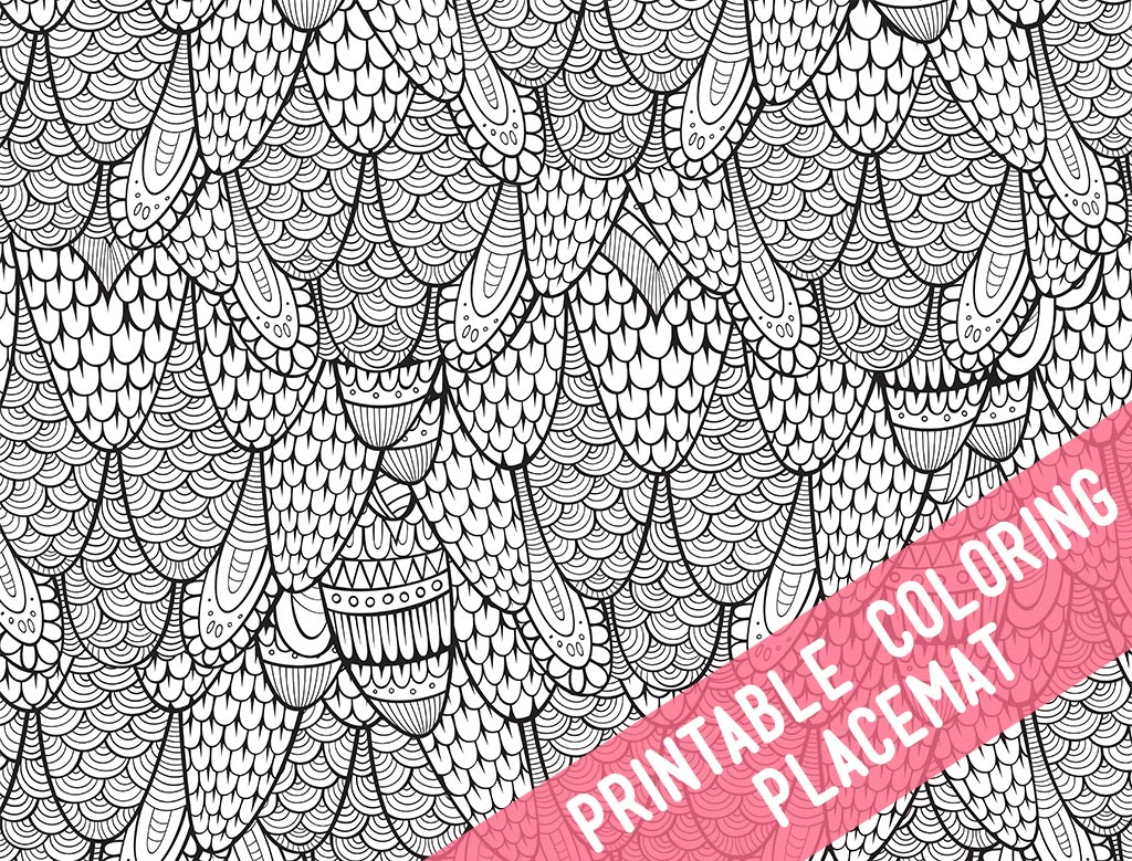 Printable Coloring Placemats - The Crafting Chicks