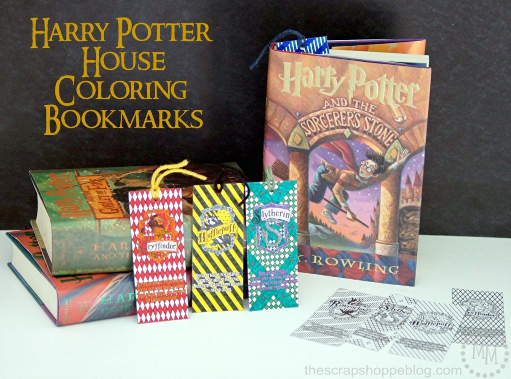 Hogwarts House Coloring Bookmarks