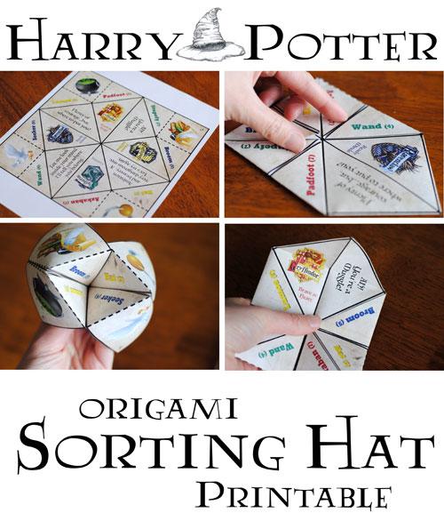 Origami Sorting Hat Printable