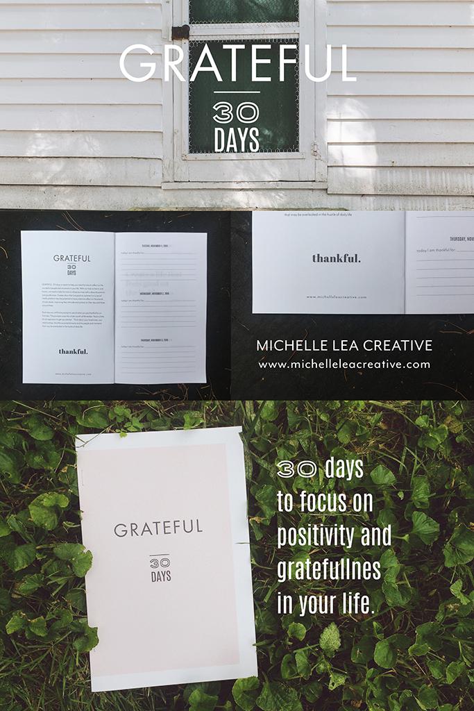 Grateful Journal: Michelle Lea Creative