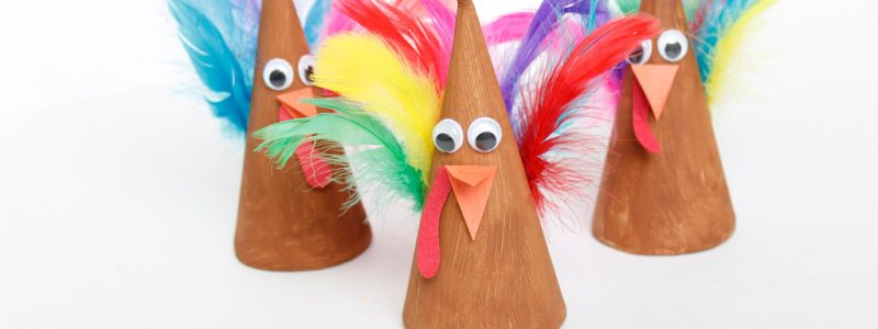 Turkey Cone Kids Craft Idea