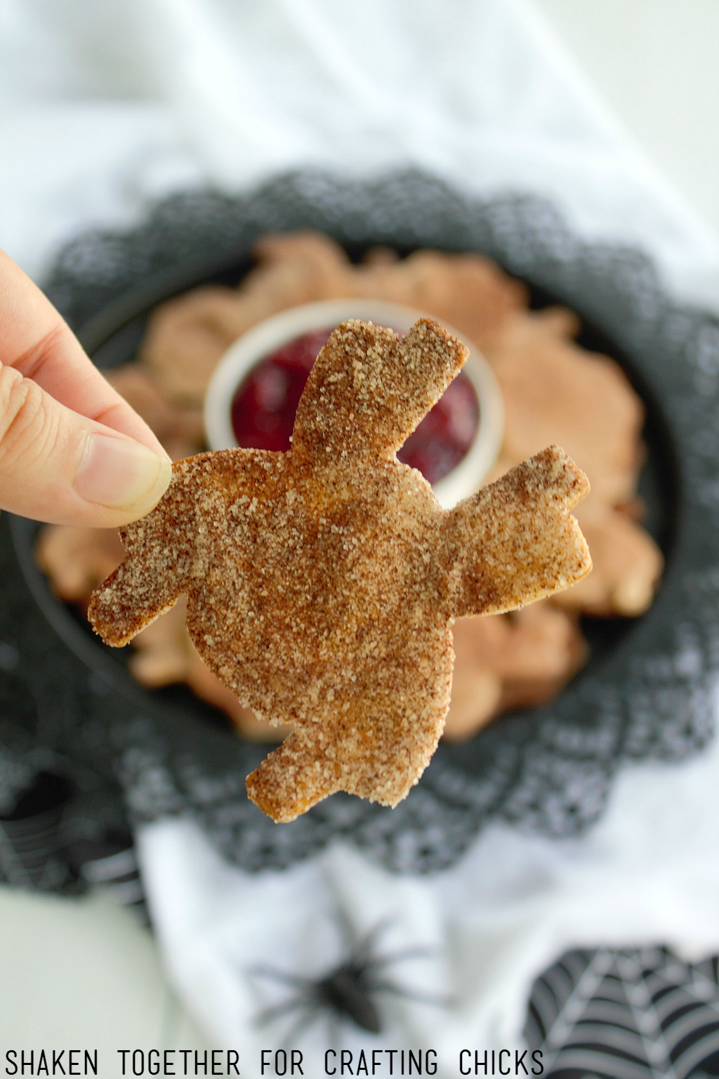Cinnamon Sugar Spider Chips - I love these sweet little spiders!