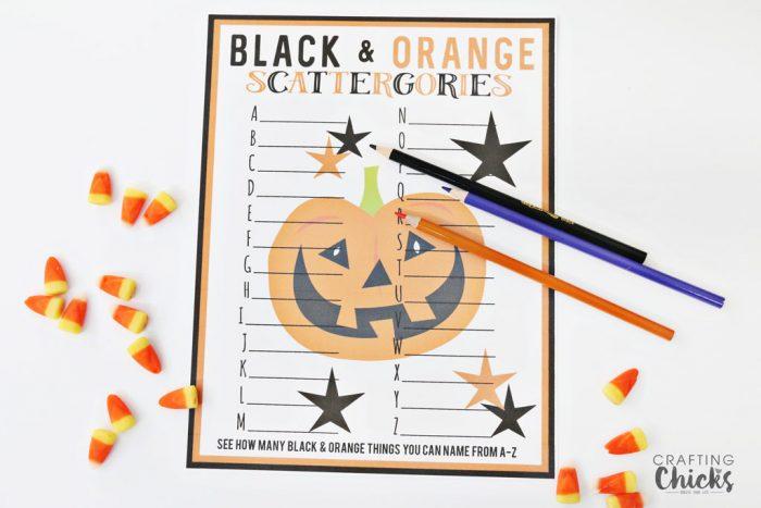 Halloween Scattergories