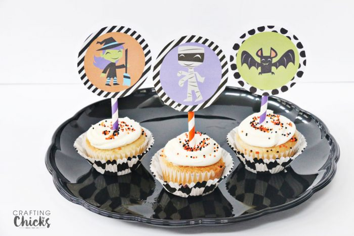 Halloween Printable Pack Cupcake toppers