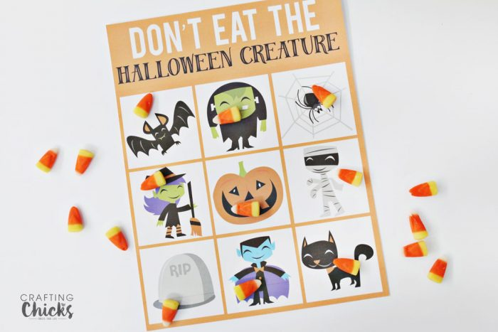 Halloween Don't eat Pete game