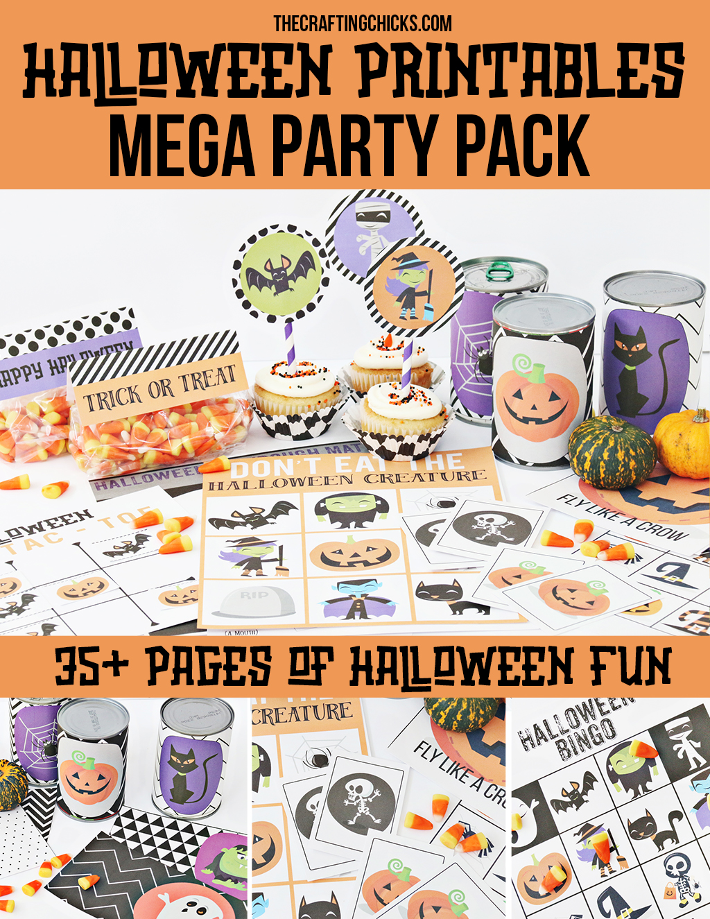 halloween printables mega party pack the crafting