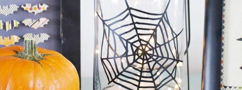 Spiderweb Halloween Lantern