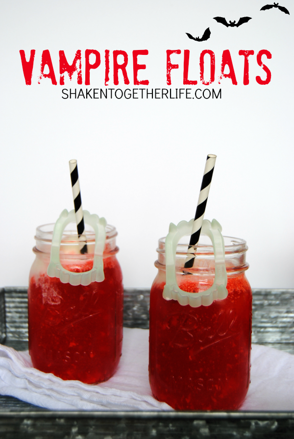 Vampire Floats - Halloween Ice Cream Floats from Shaken Together
