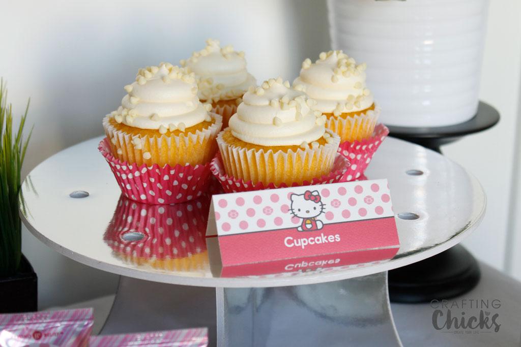 Hello Kitty Spa Party Cupcakes