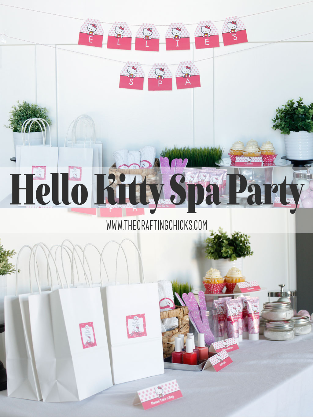 Hello Kitty Spa Party is the perfect way to add a fun flare to a little girls spa party. Adding fun pops of pink this party will be a hit.