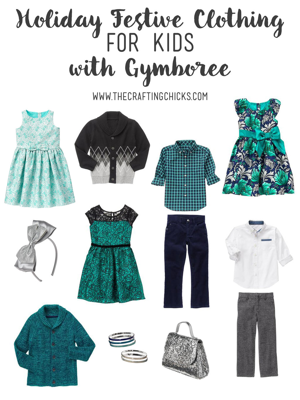 Holiday Festive Clothing for kids with Gymboree. This clothing guide will help you pick the perfect outfits for your kids