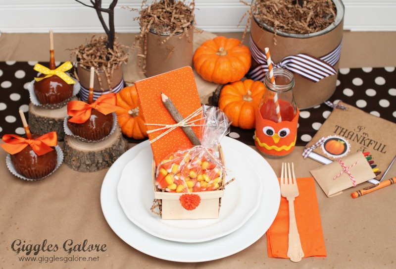 Diy thanksgiving tablescapes the crafting chicks Cheap thanksgiving table setting ideas