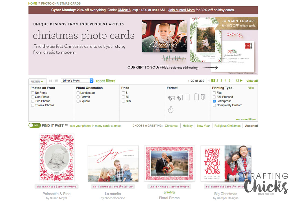 Design options with Minted