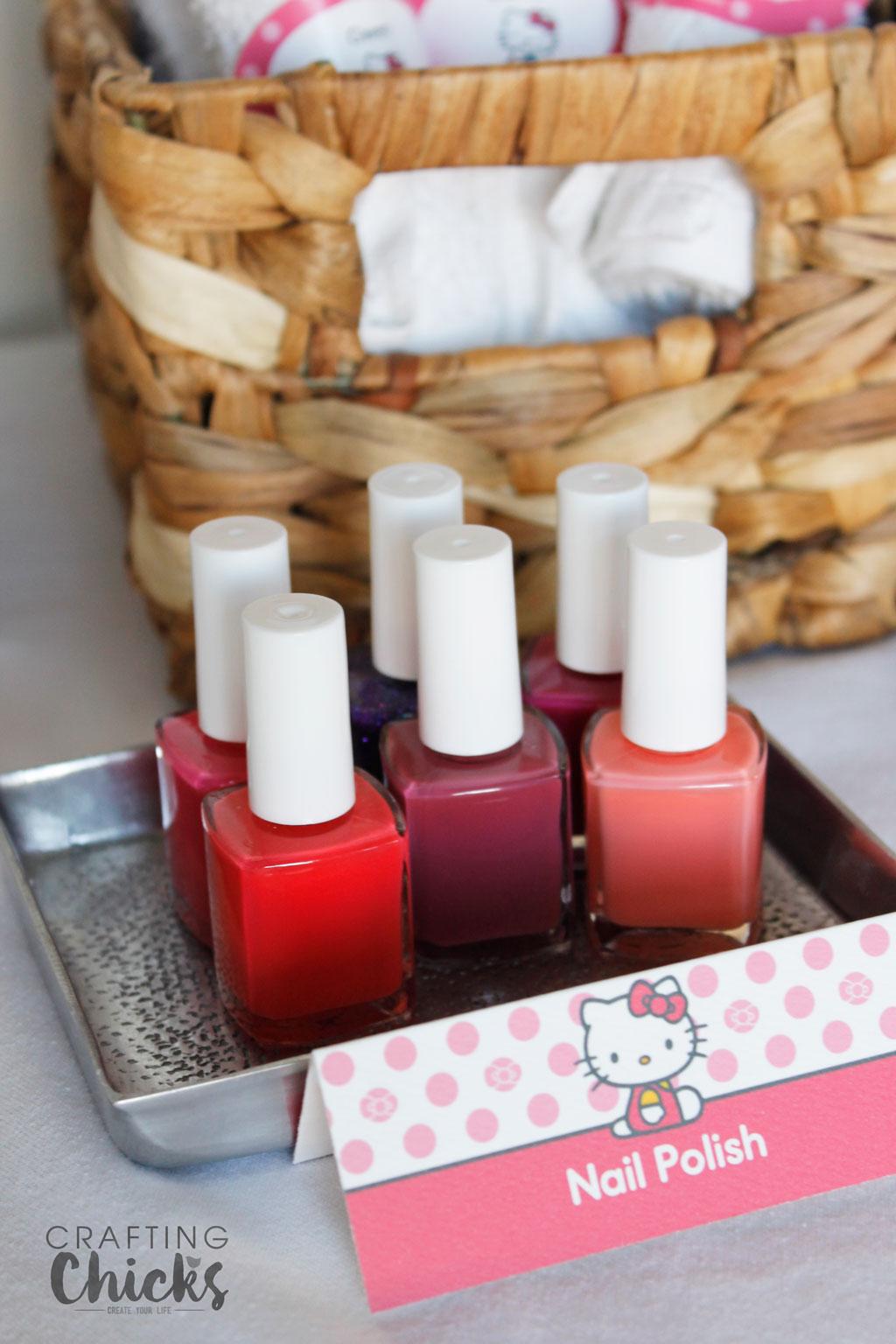 Hello Kitty Spa Party nail polish