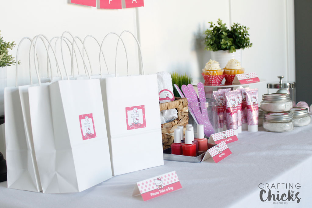 Hello Kitty Spa Party Table Spread