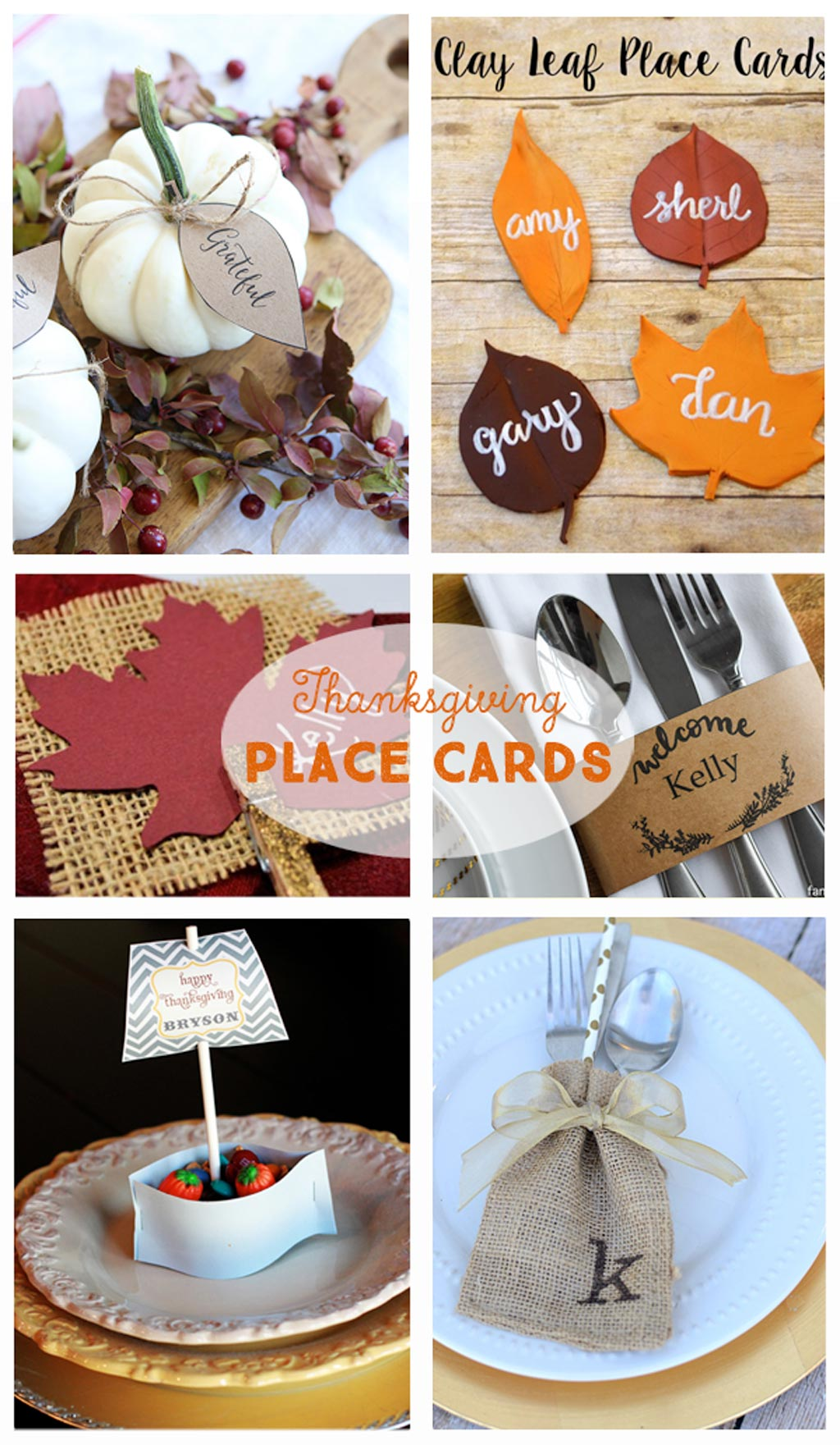 Diy thanksgiving tablescapes the crafting chicks for Diy thanksgiving table place cards