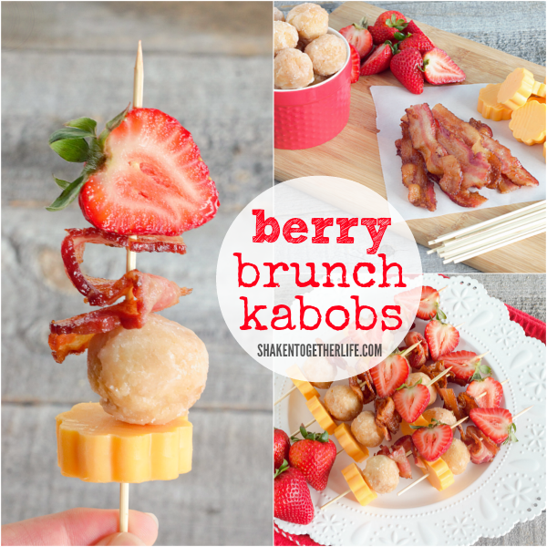 Berry Brunch Kabobs are a delicious sweet and salty breakfast or brunch recipe!