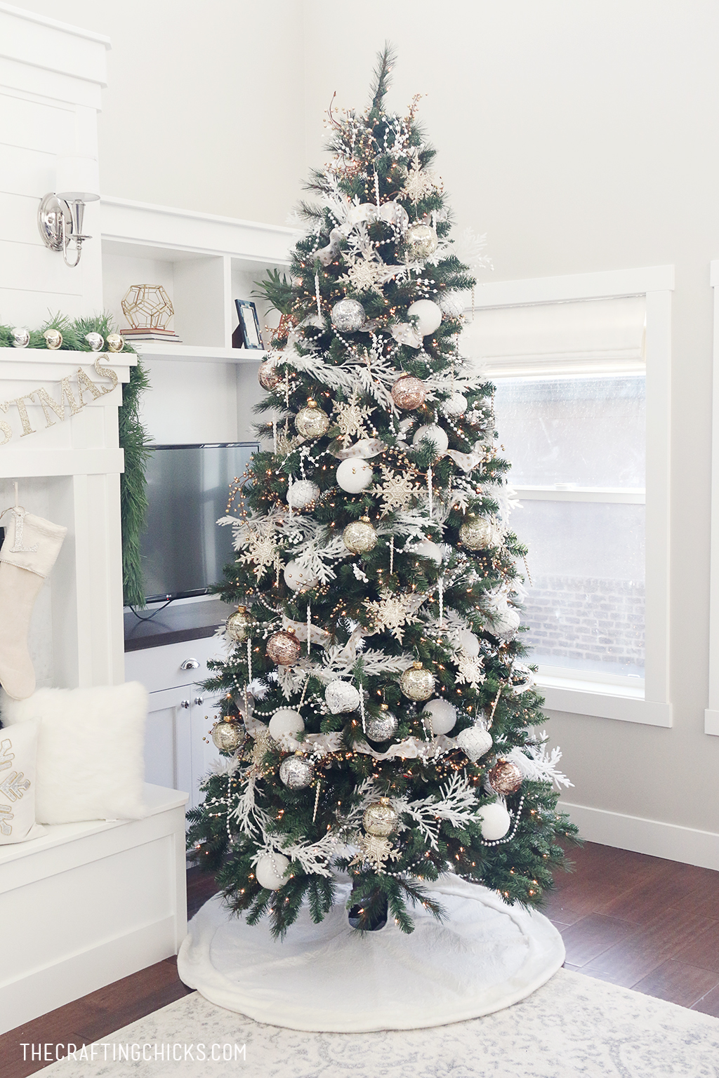 White Amp Gold Michaels Makers Dream Tree The Crafting Chicks