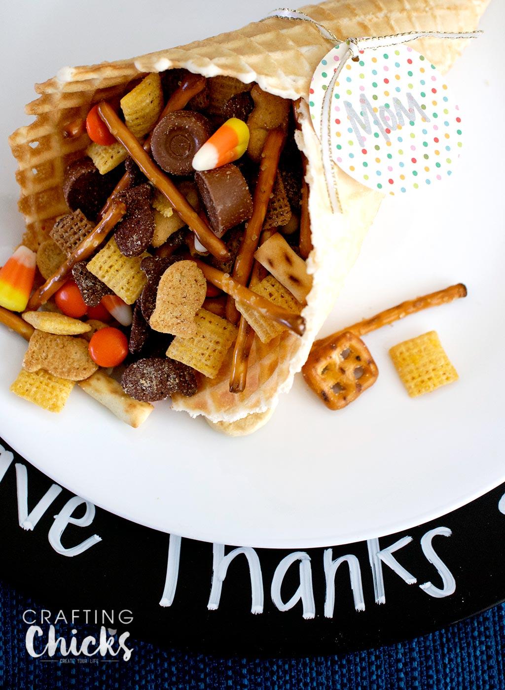 Waffle Cone Cornucopia