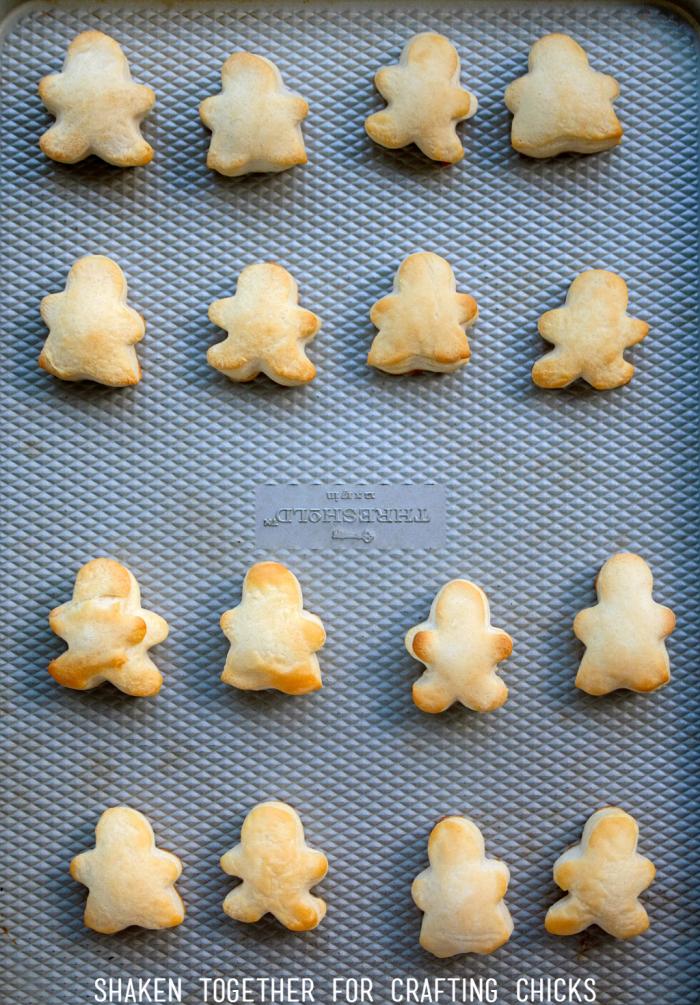 Gingerbread Biscuit Bites bake up soft, fluffy and golden brown!