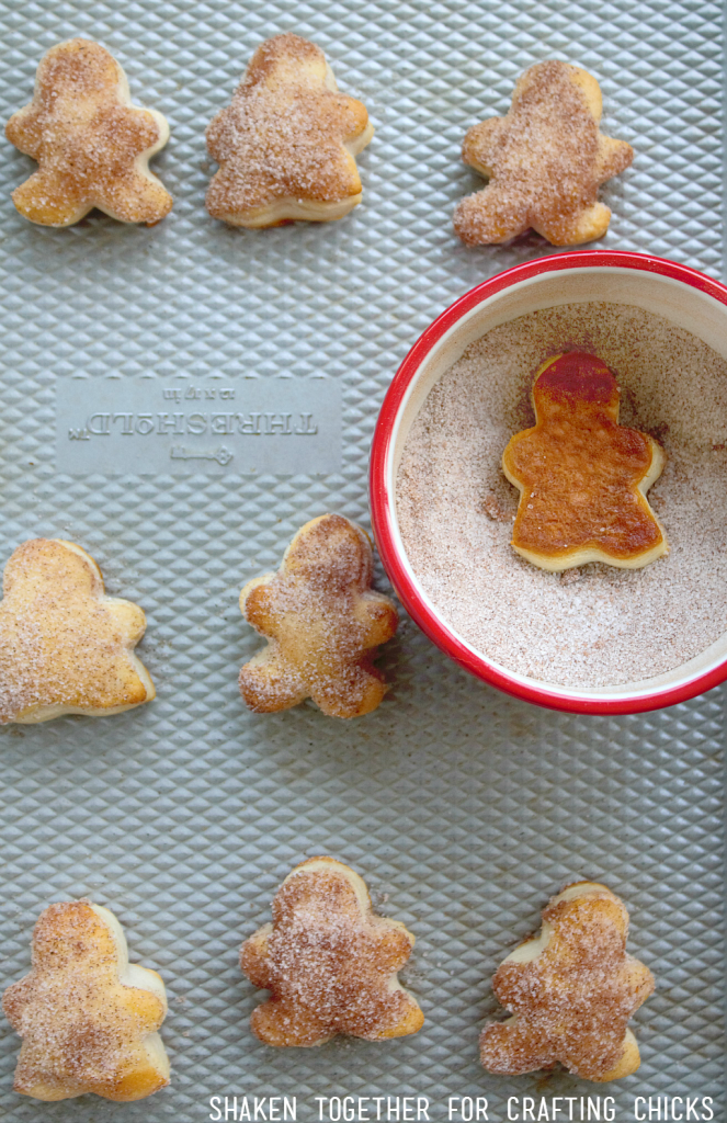 Gingerbread Biscuit Bites are brushed with melted butter and dipped in gingerbread sugar!