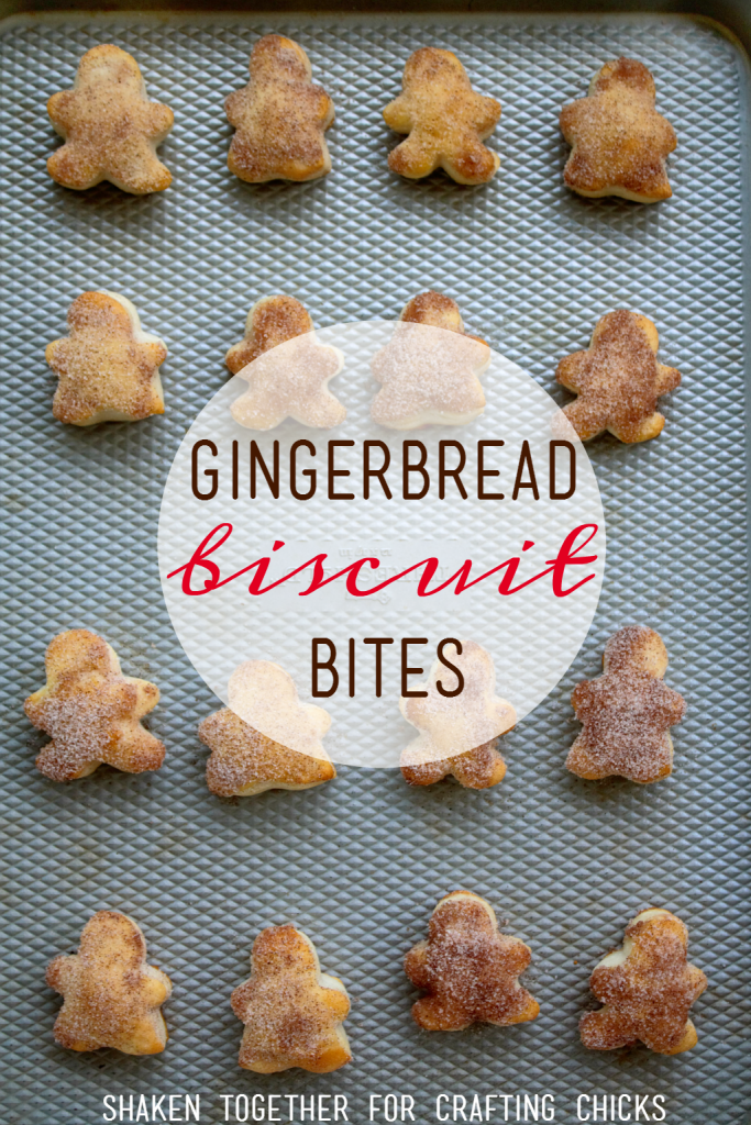 Gingerbread Biscuit Bites are the perfect little bites for your holiday breakfast! They are brushed with butter and dipper in gingerbread sugar - YUM!