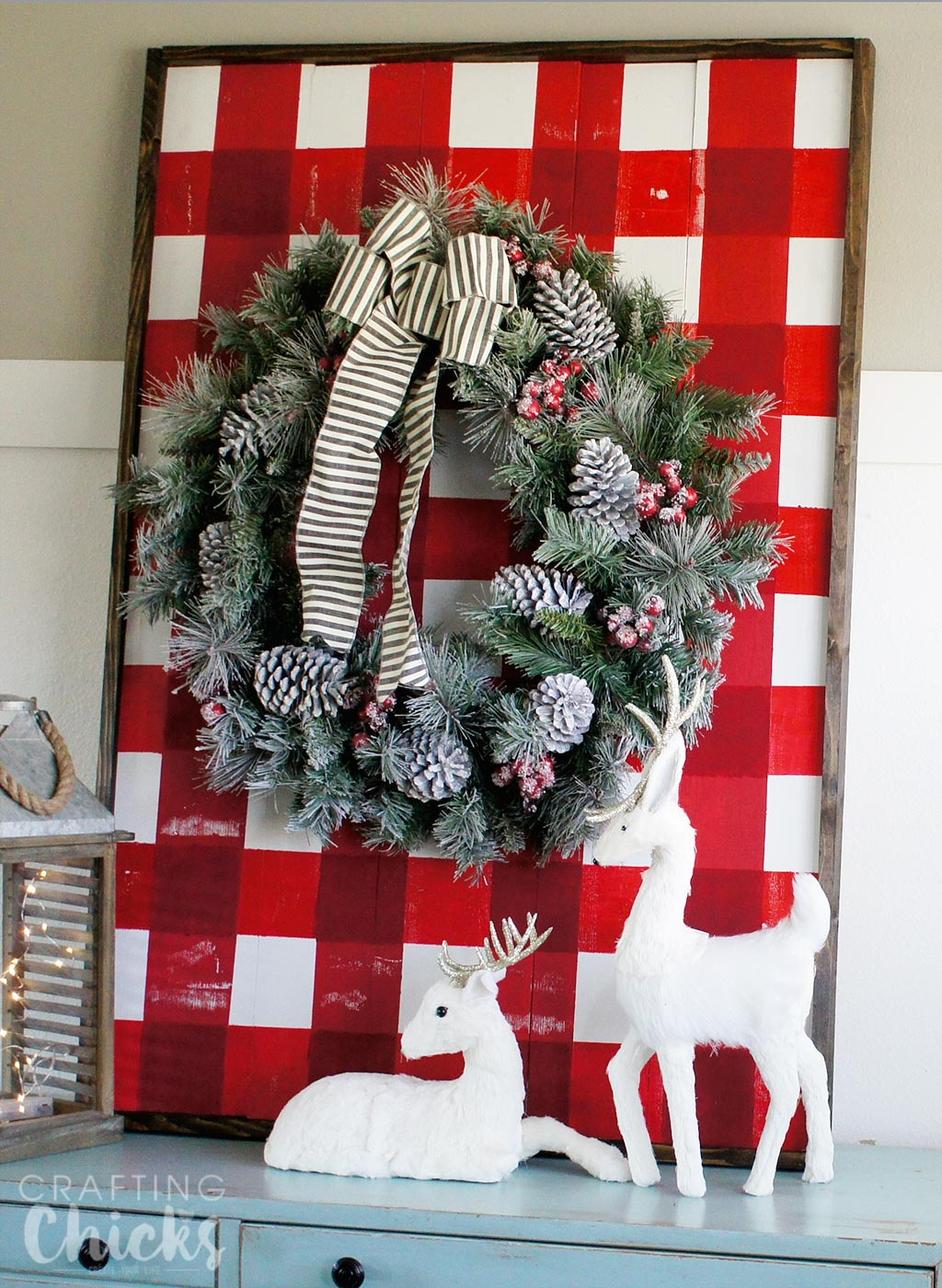 Wooden Plank Display with The Home Depot - The Crafting Chicks