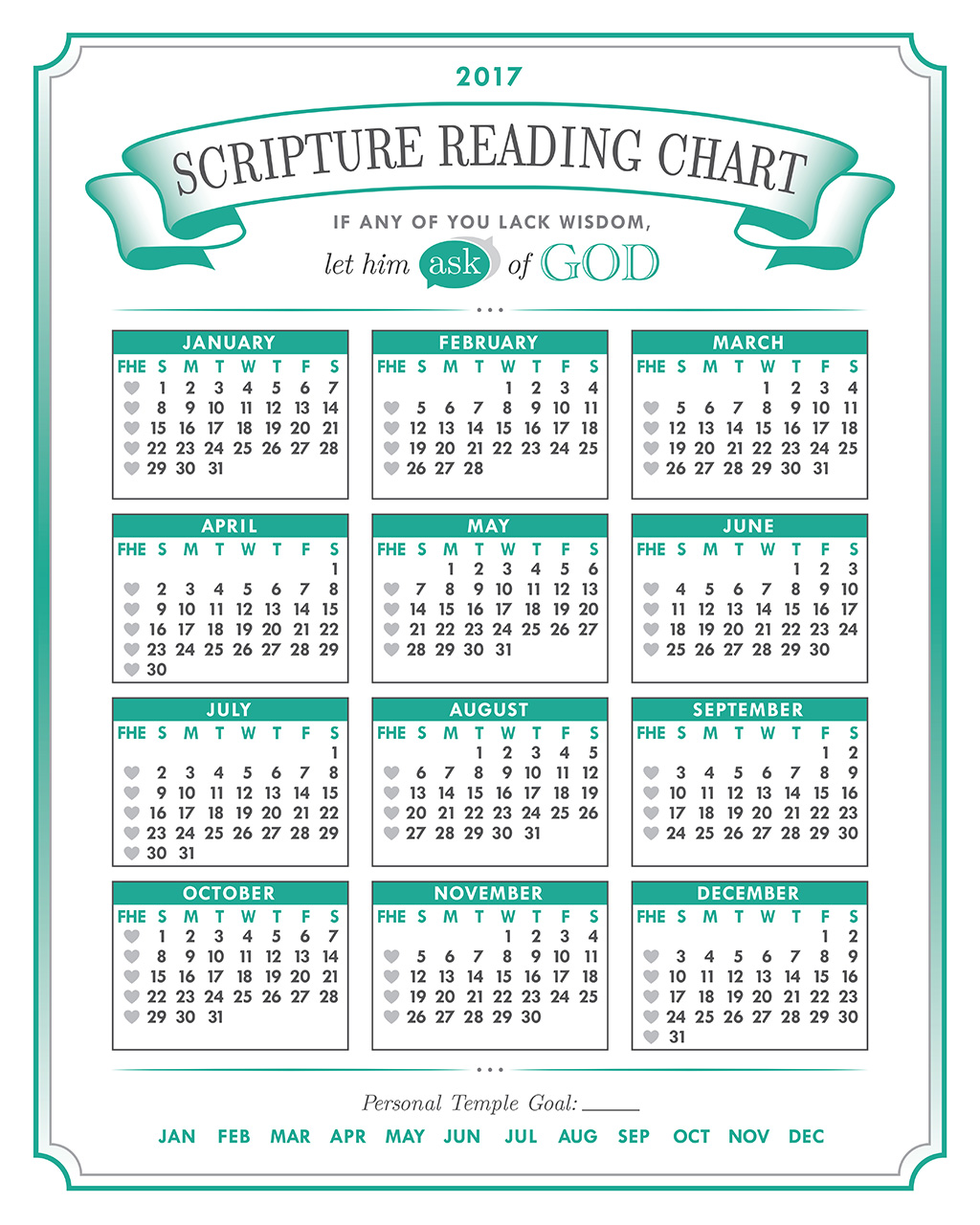 2017 Mutual Themed Scripture Chart Printable