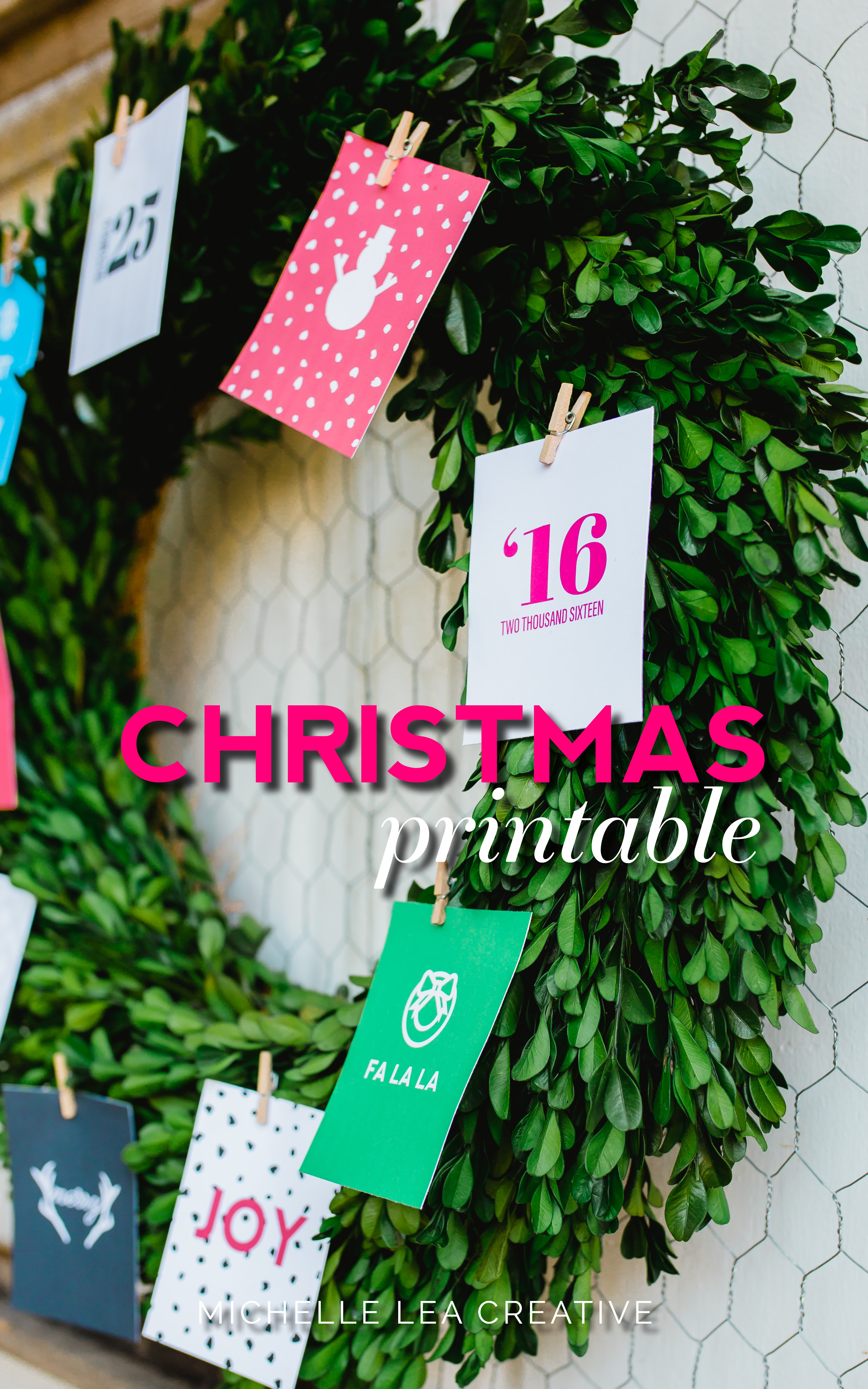 Christmas Tree Printables - A fun way to decorate in small spaces