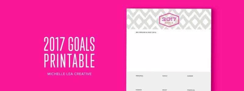 2017 Goals Printable