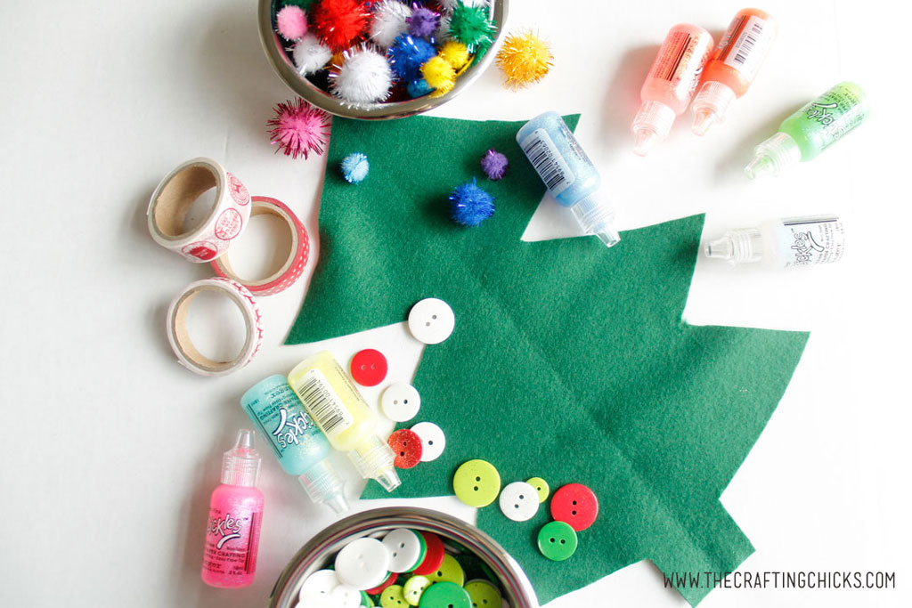 Felt Christmas Tree Kids Craft