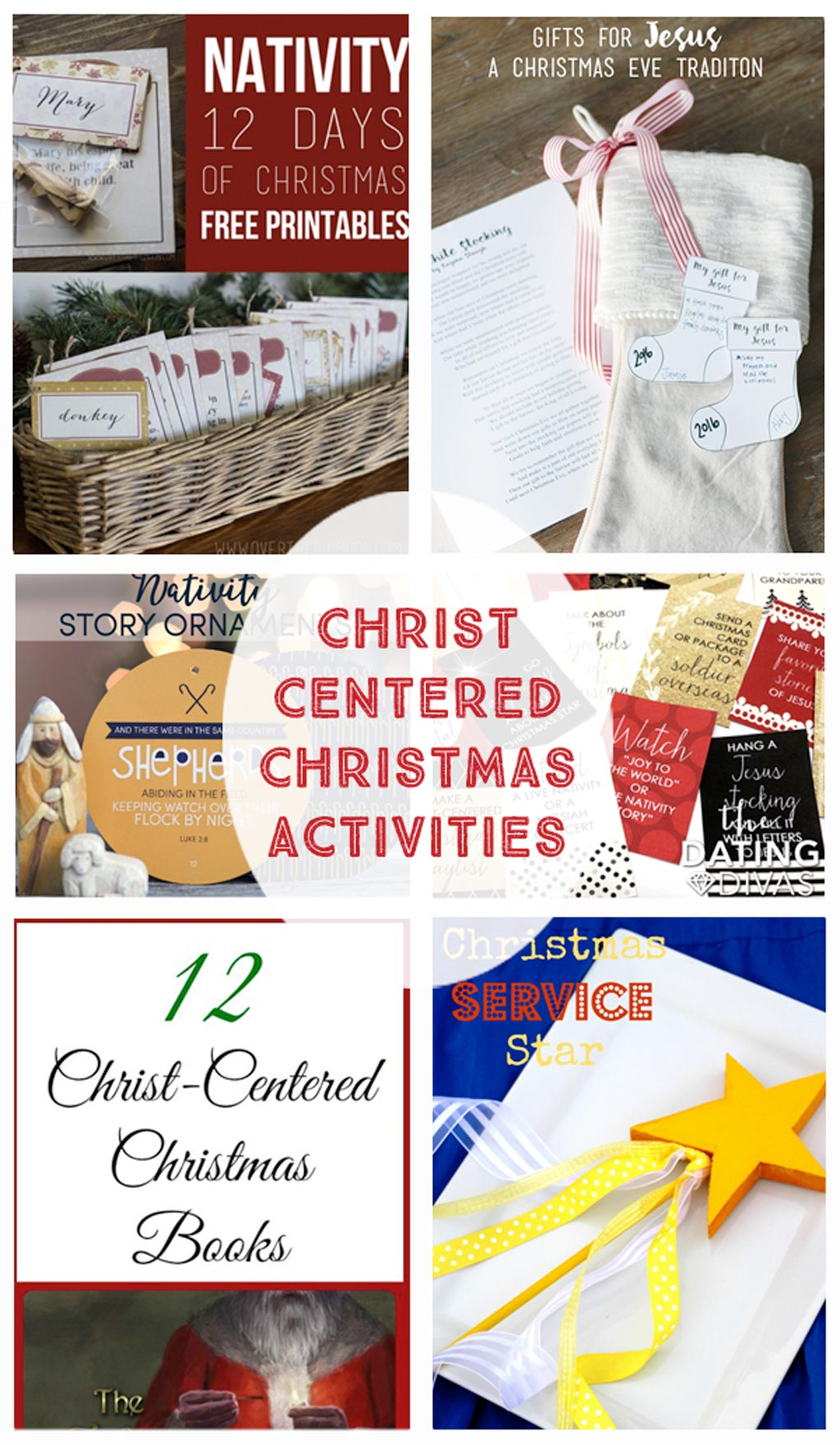 Christ Centered Christmas Activities - Printables, ornaments, service ideas, gift ideas and activities for the whole family.