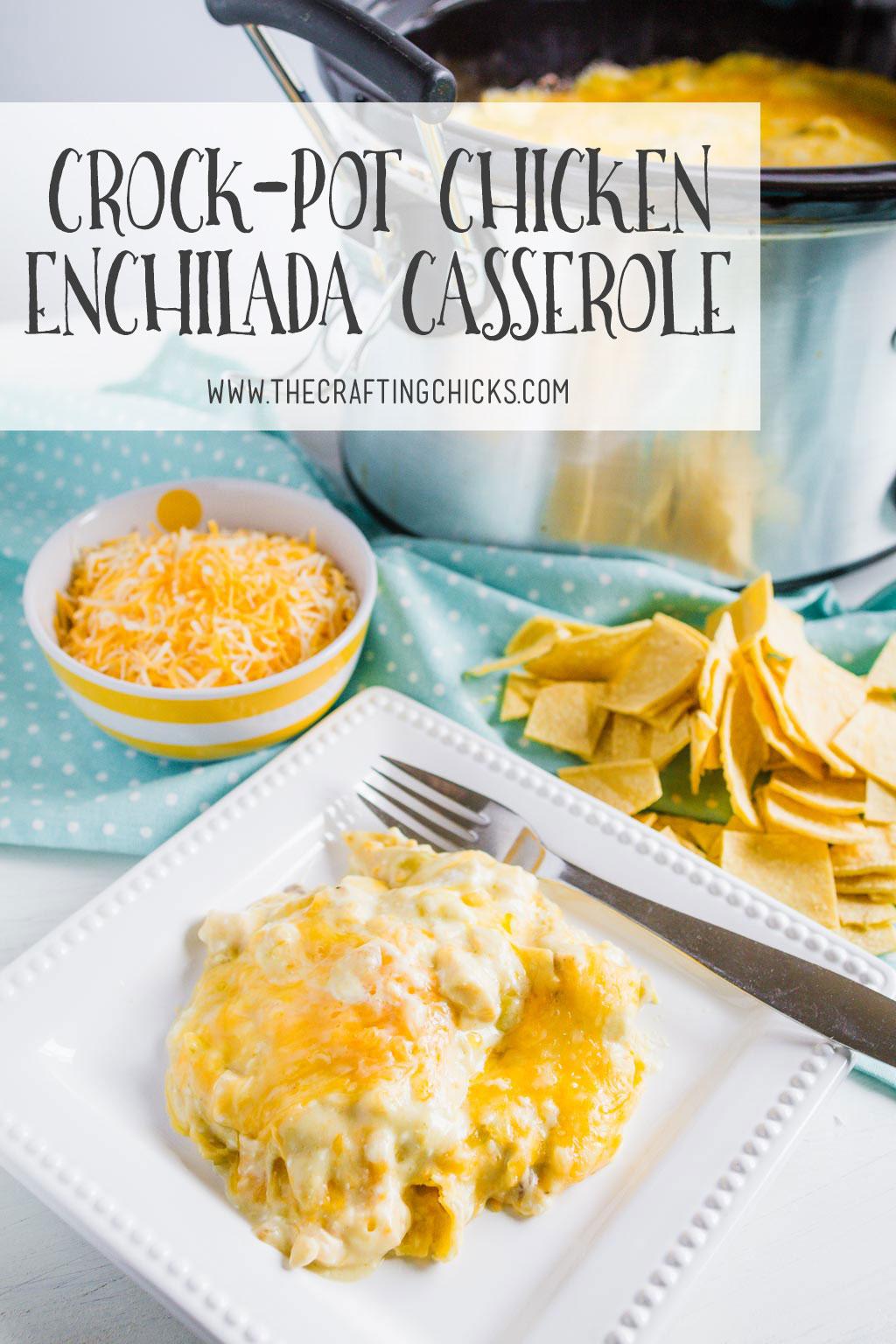 Crock-Pot Chicken Enchiladas