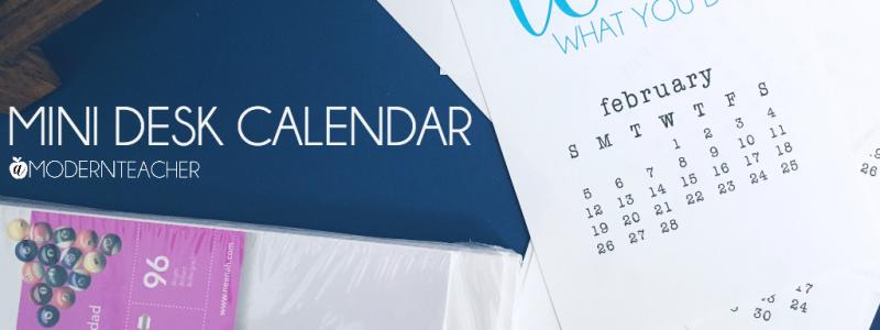 Mini Desk Calendar 2017