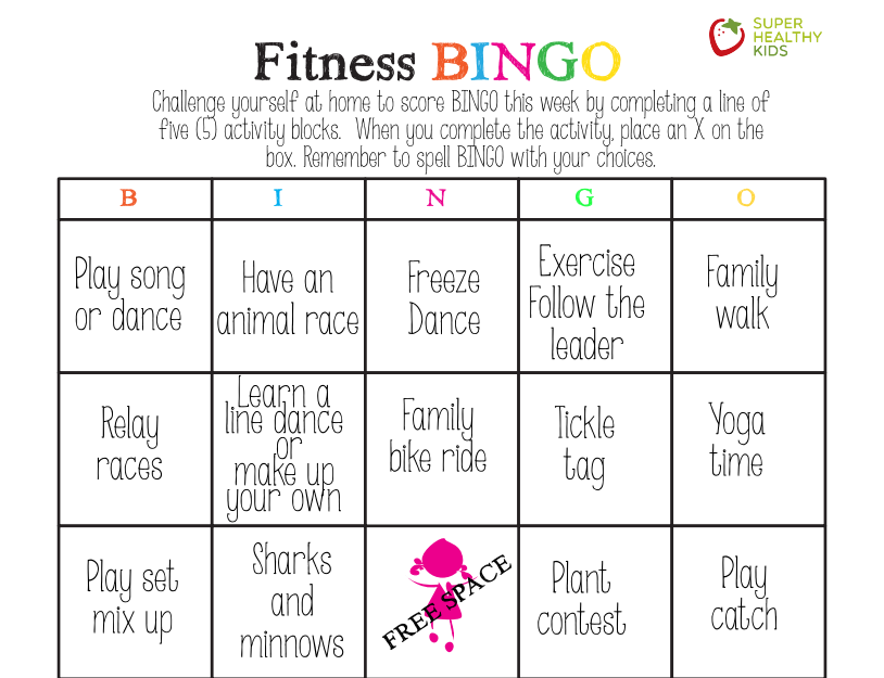Fitness Bingo for Kids