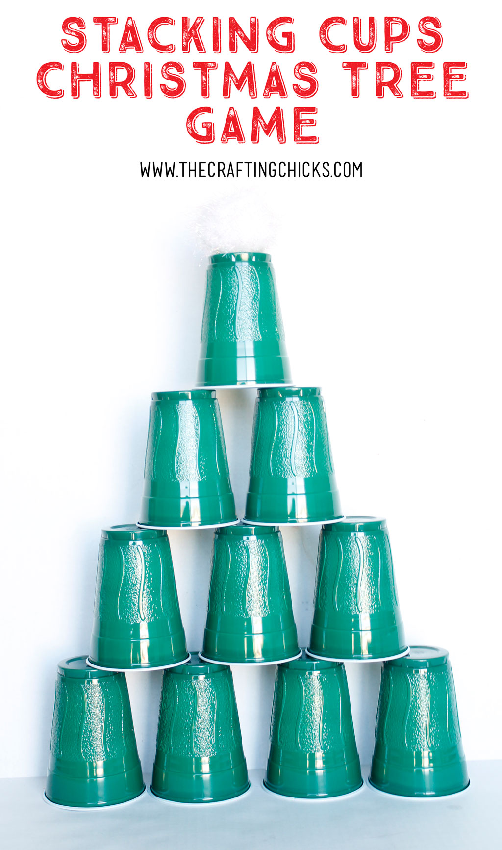 Stacking Cups Christmas Tree Game